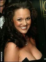 Anna Benson baseballs hottest wife showing ample cleavage